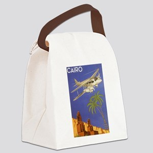 Vintage Travel Poster Cairo Egypt Canvas Lunch Bag